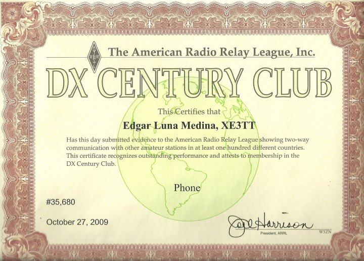 ARRL DXCC Award